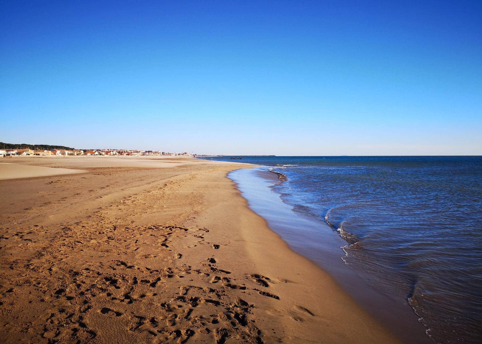 Vue de la plage de Narbonne